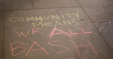 COMMUNITY MEANS WE ALL BASH BACK
