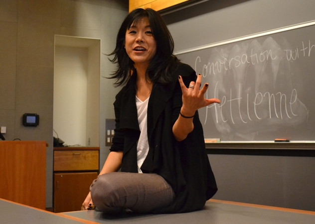 Broadway actress Hettienne Park shared stories of familial conflicts and economic struggles related to her pursuit of acting following college in a recent lecture in Sci 199 as part of APIA Month.