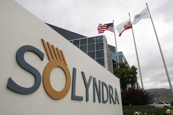 Solyndra is a California-based manufacturer of solar panels. (Courtesy of timeswampland.files.wordpress.com)