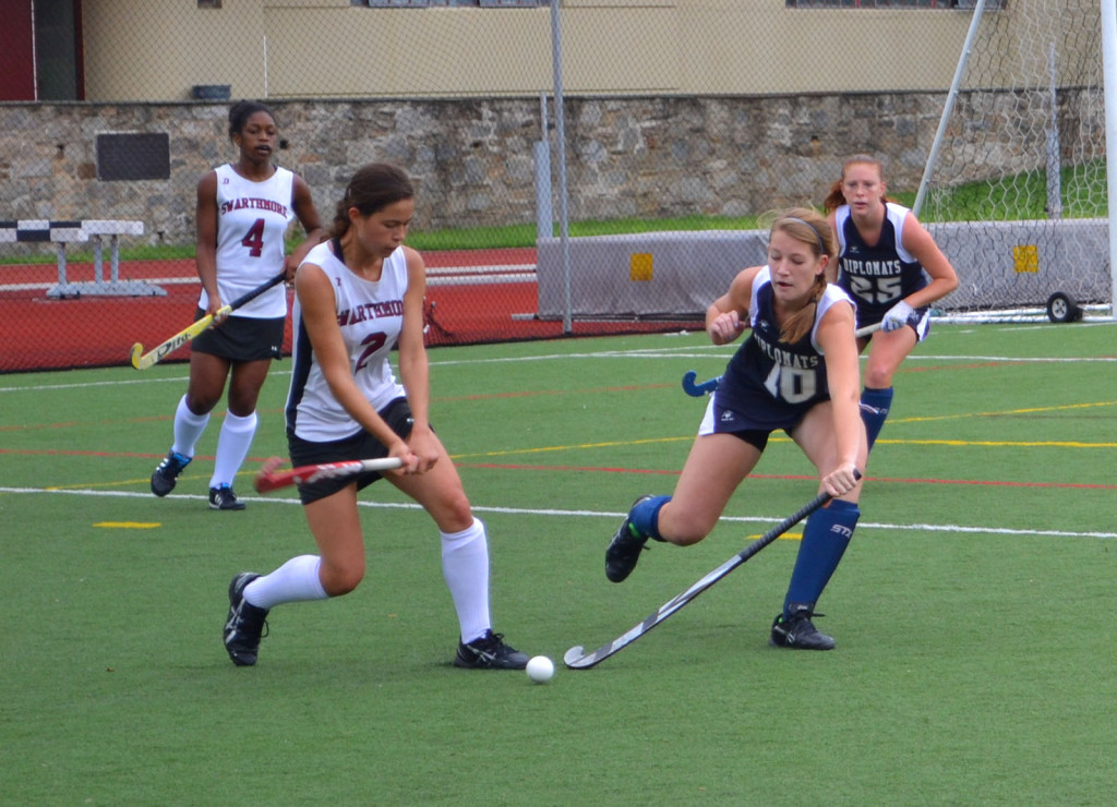 Defender/midfielder Abby Lauder (2) keyed a strong defensive effort that ultimately fell short against F&M on Saturday. (Justin Toran-Burrell/The Phoenix)