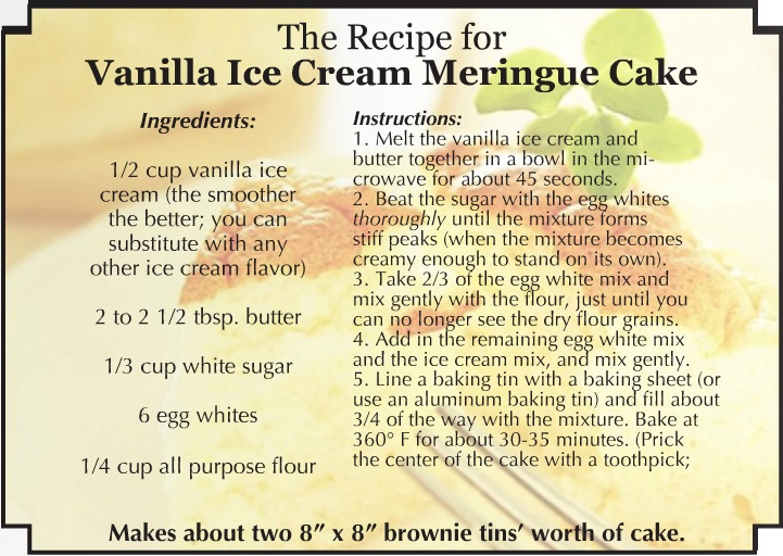 Ice Cream Cake Ingredients And Procedure