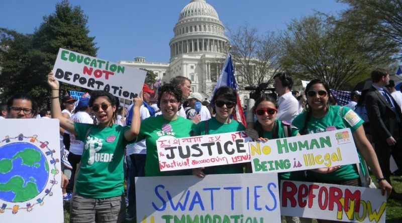 Swatties travel to Washington, D.C. to protest for immigration reformPhoto provided by Jovanna Hernandez '13