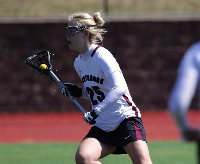 Lucy Whitacre '14 has played a key role in the Garnet's early season success.