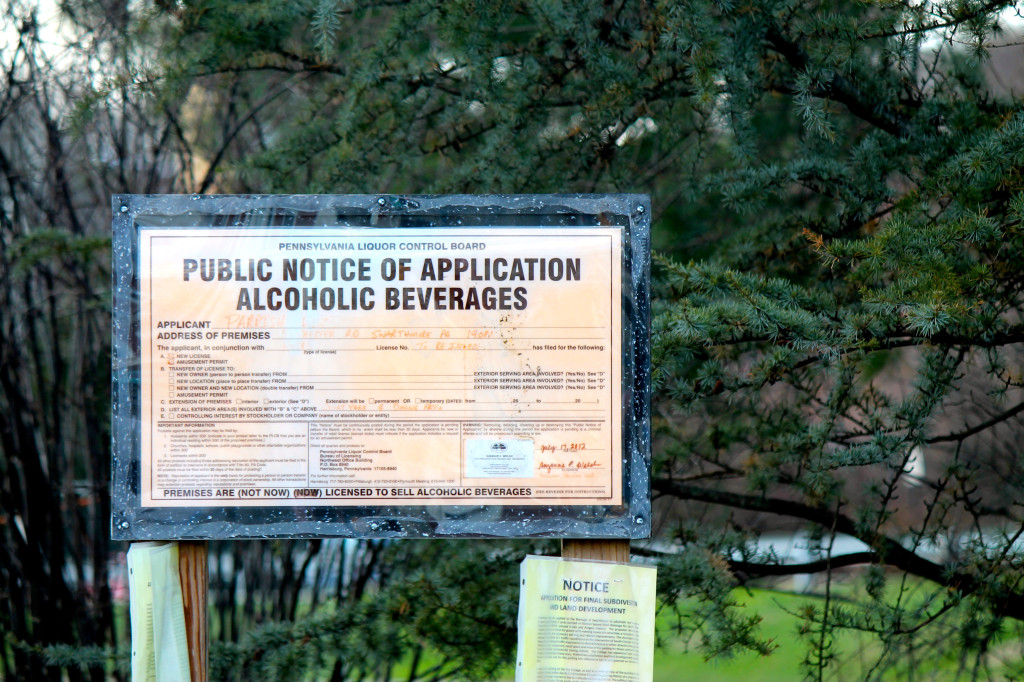The college announced their application for a liquor license in 2012.