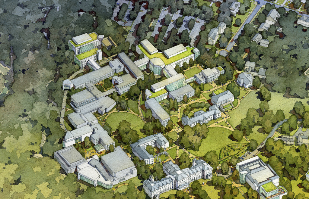 A diagram of the Master Plan released by the College.