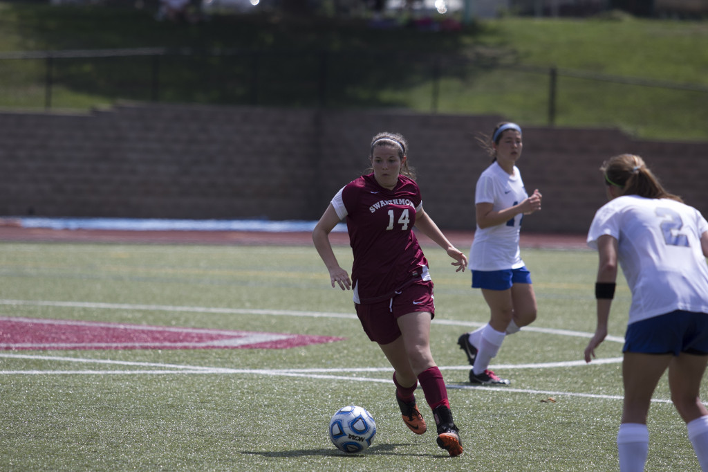 Sarah Hancock '18 and the Swarthmore women's soccer team are preparing for a showdown tonight