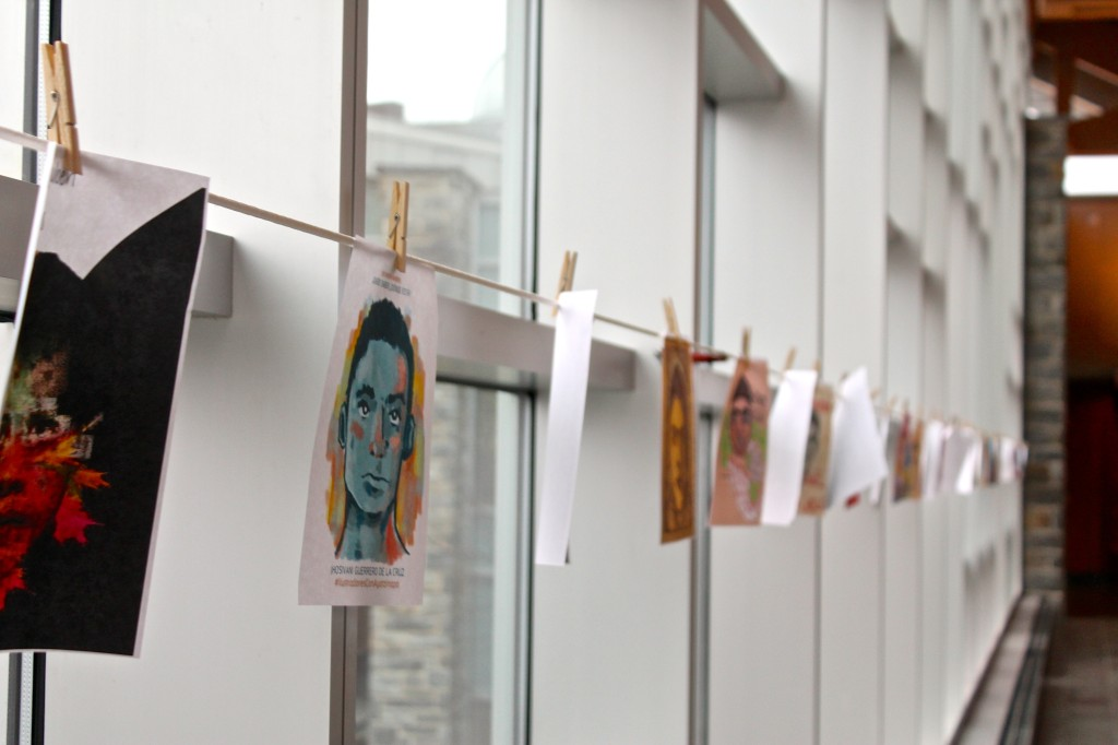 Artists' portraits of kidnapped Mexican students  Photo by Ashlen Sepulveda