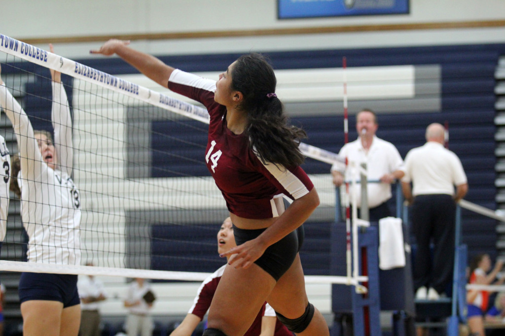 In just one season on the college court, Wallace has already shattered three program records. Photo courtesy of Swarthmore Athletics